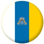 Canary Islands Flag 25mm Flat Back.